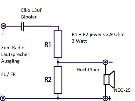 Frequenzweiche DIY Sound up!- grade